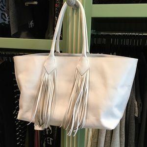 Sara Battaglia Fringe Handbag